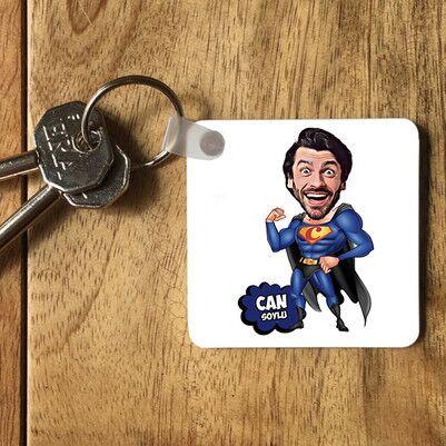 - Süper Adam Karikatürlü Anahtarlık