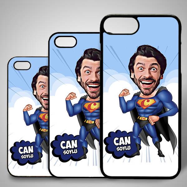 Süper Adam Karikatürlü Iphone Kapak