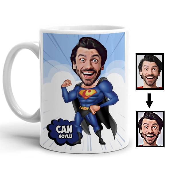 Süper Adam Karikatürlü Kupa Bardak