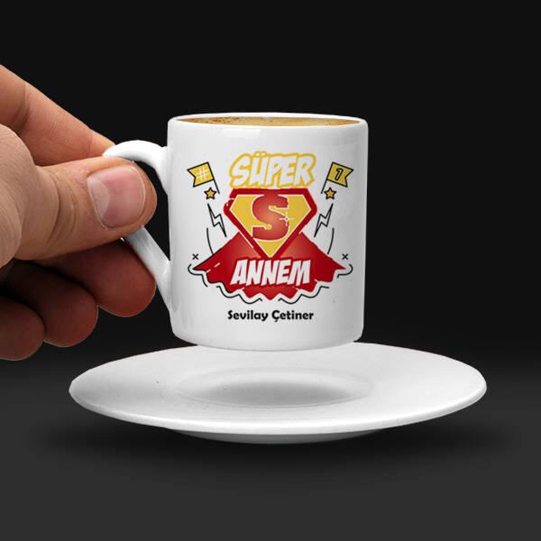 Süper Annem İsimli Kahve Fincanı