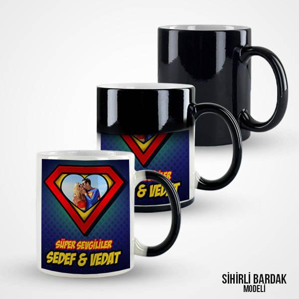 Süper Aşıklar Fotoğraflı Kupa Bardak