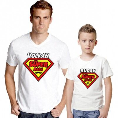 - Süper Baba ve Süper Oğlu 2'li Tişörtleri