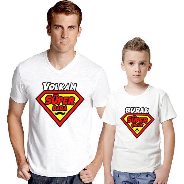 Süper Baba ve Süper Oğlu 2'li Tişörtleri