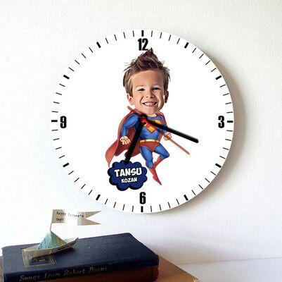 - Süper Çocuk Karikatürlü Duvar Saati