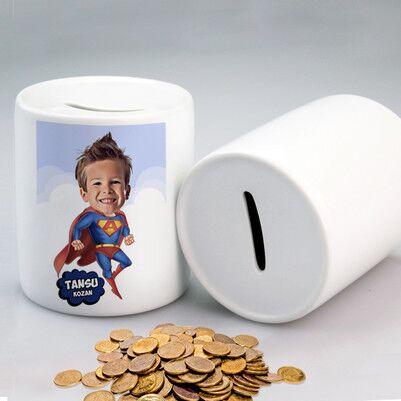 - Süper Çocuk Karikatürlü Kumbara