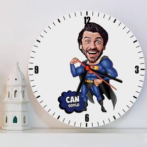 - Süper Erkek Karikatürlü Duvar Saati