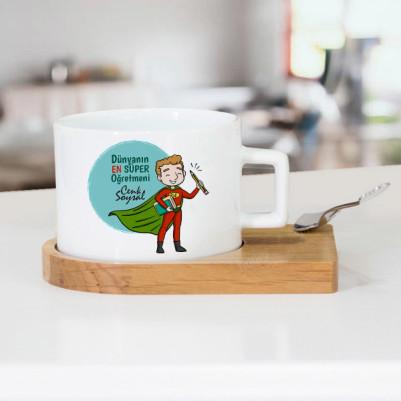 - Süper Erkek Öğretmen Çay Fincanı