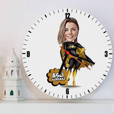 - Super Girl Karikatürlü Duvar Saati