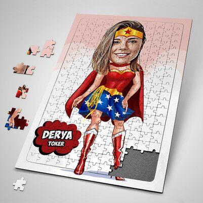 - Super Girl Karikatürlü Puzzle