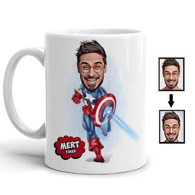 - Super Hero Karikatürlü Kupa Bardak