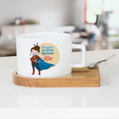 - Süper Kadın Öğretmen Çay Fincanı