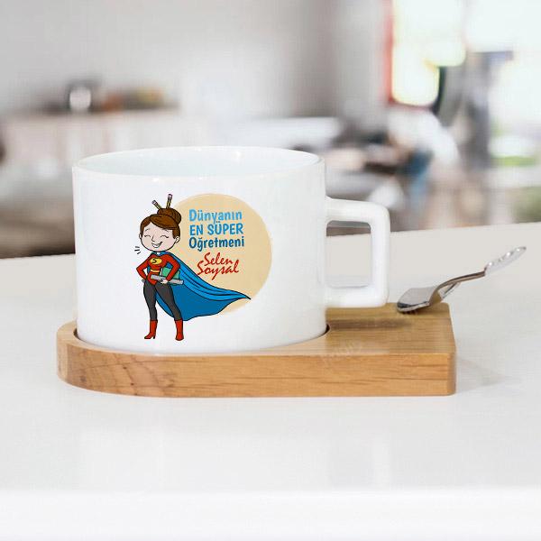 Süper Kadın Öğretmen Çay Fincanı