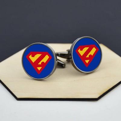 - Süper Kahraman Harfli Kol Düğmeleri