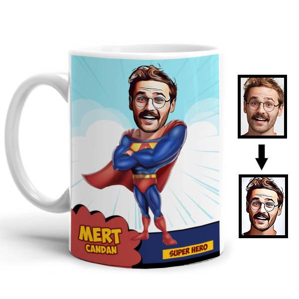 Süper Kahraman Karikatürlü Kupa Bardak