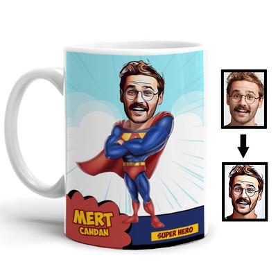 - Süper Kahraman Karikatürlü Kupa Bardak