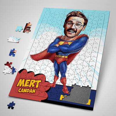 - Süper Kahraman Karikatürlü Puzzle