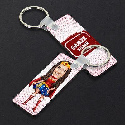 - Süper Kız Karikatürlü Anahtarlık
