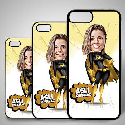 - Süper Kız Karikatürlü Iphone Kapak