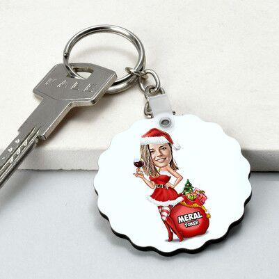 - Süper Noel Kız Karikatürlü Papatya Anahtarlık