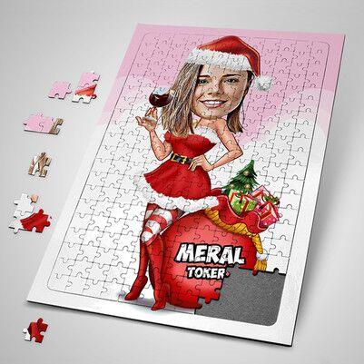 - Süper Noel Kız Karikatürlü Puzzle