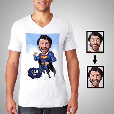 - Süperboy Karikatürlü Kişiye Özel Tişört