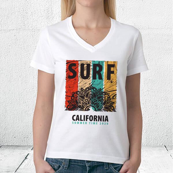 Surf California Unisex Tişört