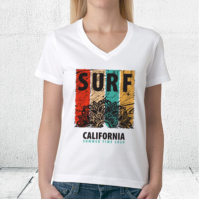 Surf California Unisex Tişört - Thumbnail