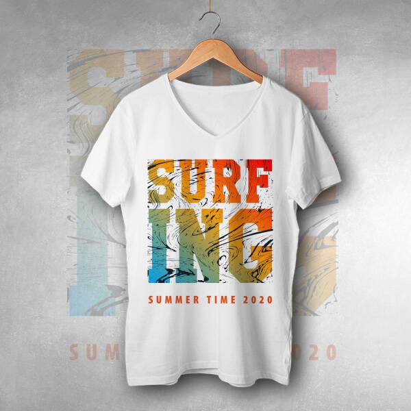 Surf ING Tasarım Unisex Tişört