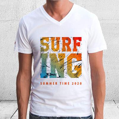 Surf ING Tasarım Unisex Tişört - Thumbnail