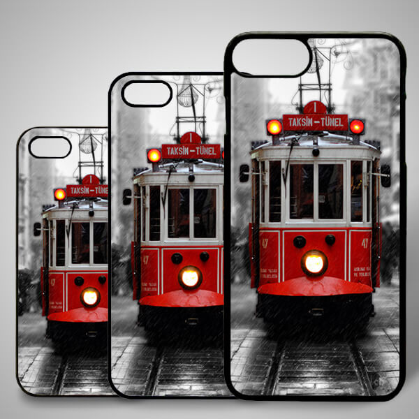Taksim Tramvay Resimli iPhone Telefon Kılıfı
