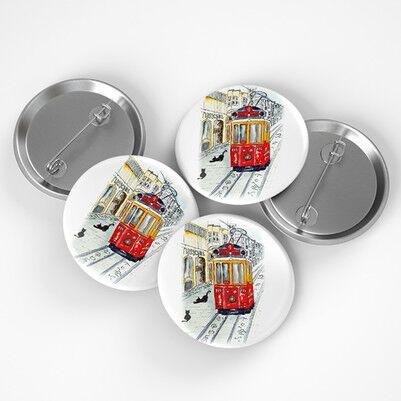 - Taksim Tramvay Tasarımlı Buton Rozet