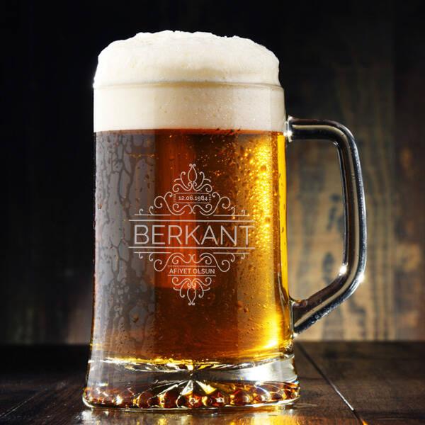 Tarihli ve İsimli Tasarım Bira Bardağı