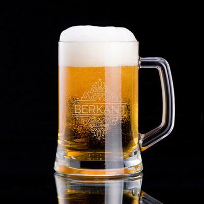 Tarihli ve İsimli Tasarım Bira Bardağı - Thumbnail