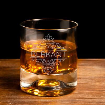 - Tarihli ve İsimli Tasarım Viski Bardağı