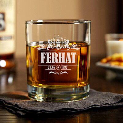 - Tasarım İsme Özel Viski Bardağı