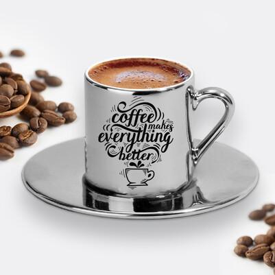 - Tasarım Silver Kahve Fincanı