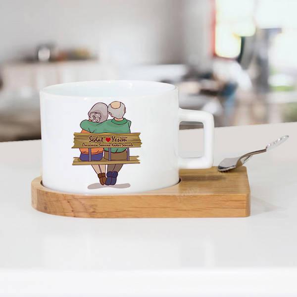 Tasarım Yaşlı Çiftler Sevgili Çay Fincanı