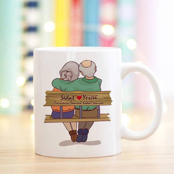 Tasarım Yaşlı Çiftler Sevgili Kupa Bardağı