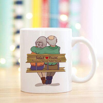 - Tasarım Yaşlı Çiftler Sevgili Kupa Bardağı