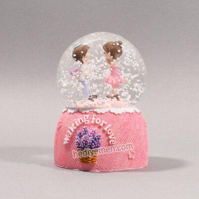 Tatlı Aşıklar Kar Küresi - KK98 - Thumbnail