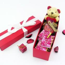 Tatlı Aşkıma Ayıcıklı Sevimli Hediye Kutusu - Thumbnail