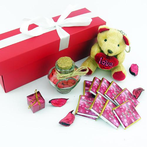 Tatlı Aşkıma Ayıcıklı Sevimli Hediye Kutusu
