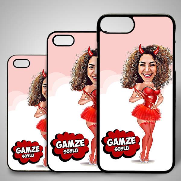 Tatlı Cadı Karikatürlü Iphone Kapak