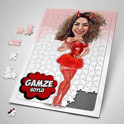 - Tatlı Cadı Karikatürlü Puzzle