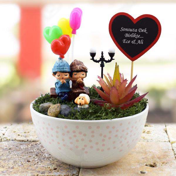 Tatlı Romantik Hayaller Minyatür Bahçe