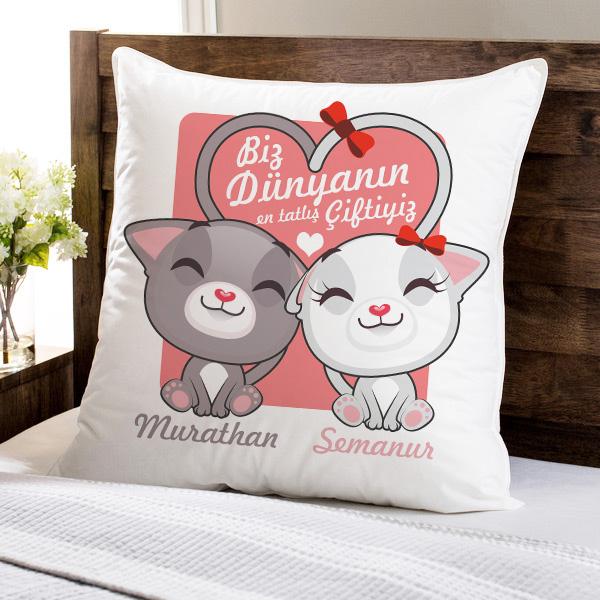 Tatliş Çiftler Aşk Yastığı