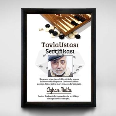Tavla Ustalarına Özel Sertifika - Thumbnail