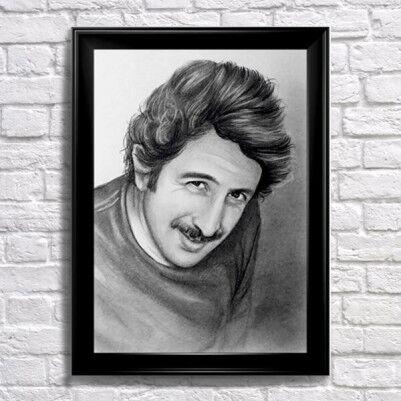 - Tek Kişilik Karakalem Portre Resim