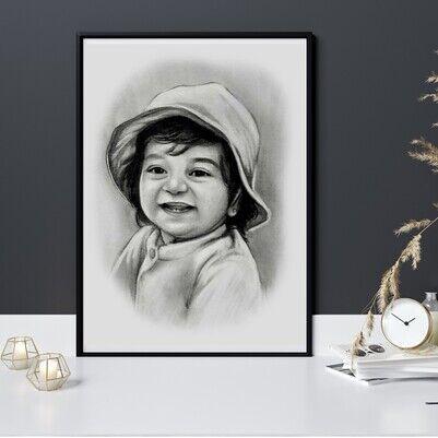 Karakalem Portre Resim - Thumbnail