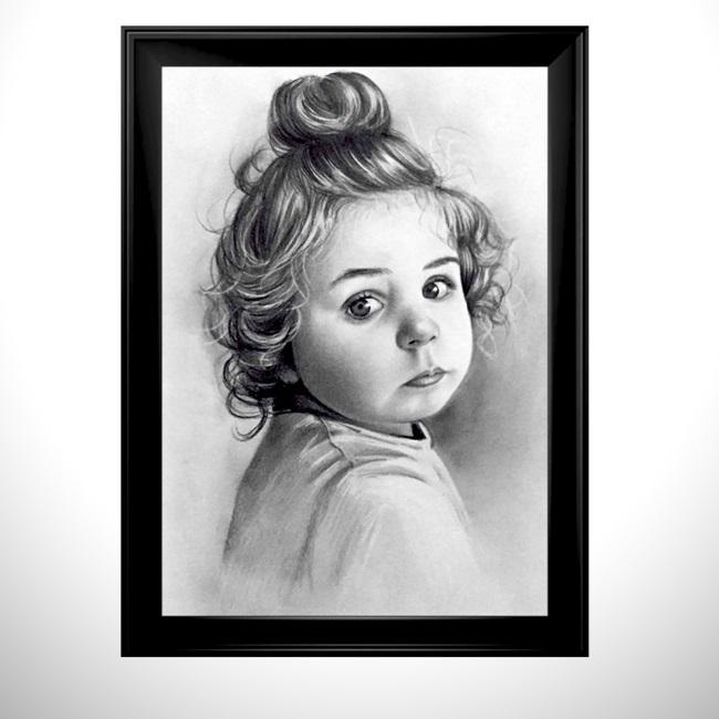 Tek Kişilik Karakalem Portre Resim